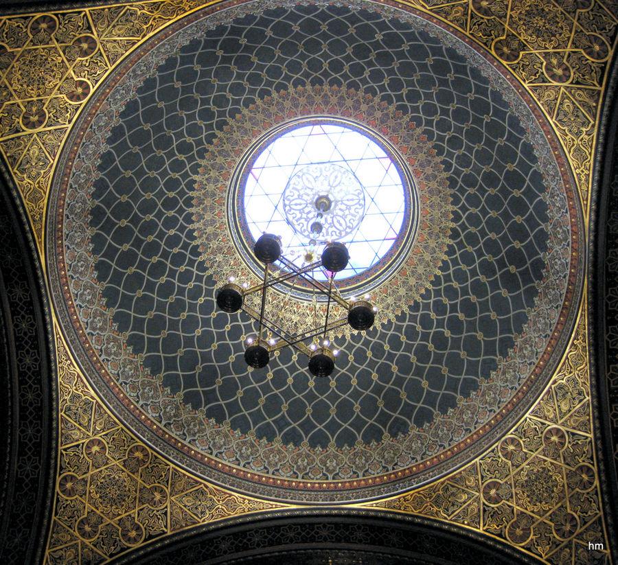Kuppel der Spanischen Synagoge in der Prager Josefstadt