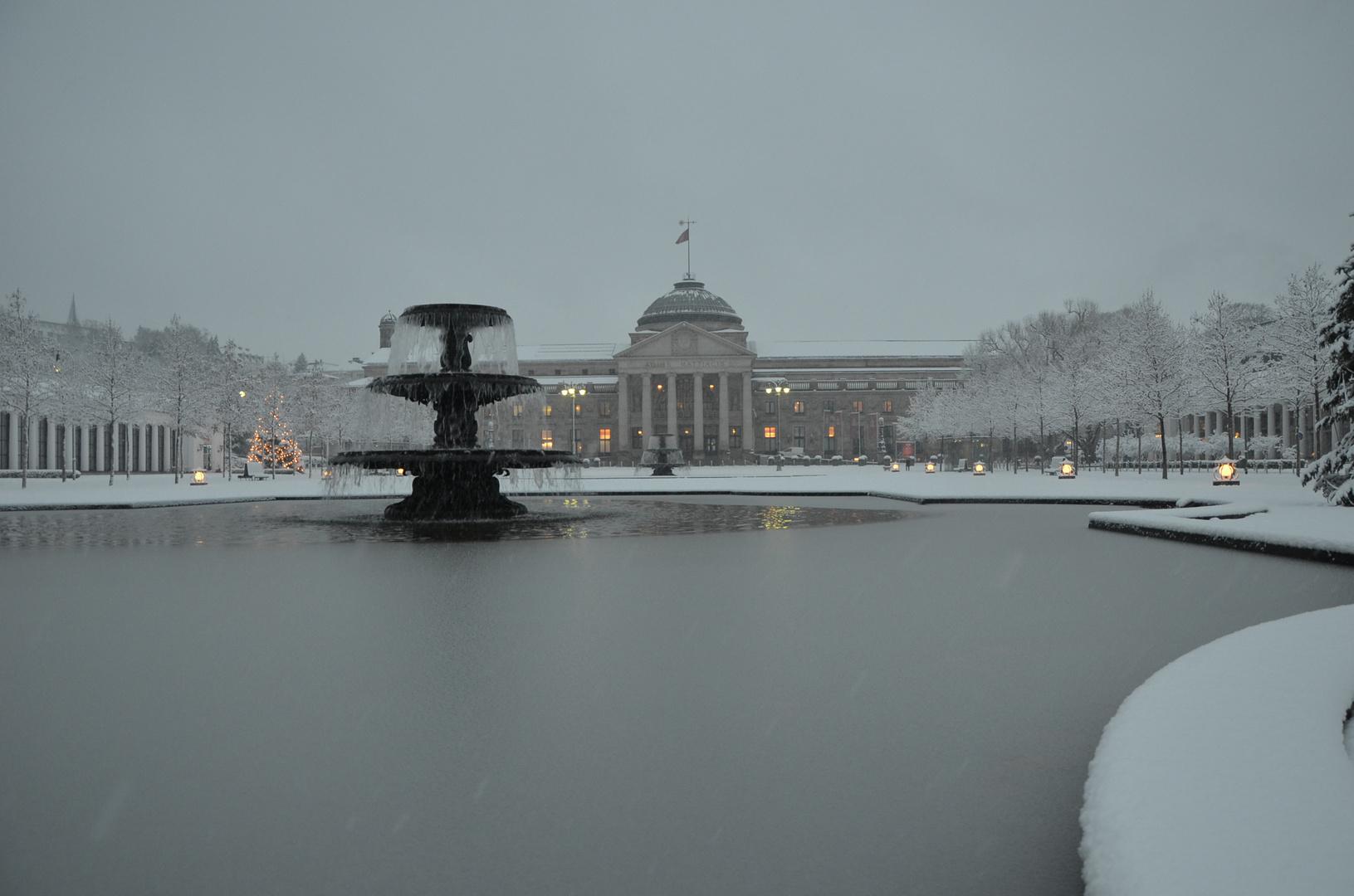 Kurhaus im Schnee, ist immer wieder schee
