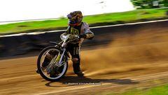 Kurven Dynamik beim Speedway