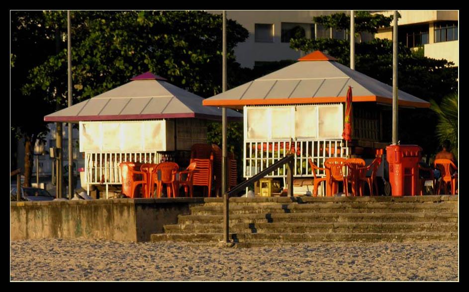 kurz bevor der Rummel los geht an der Copacabana