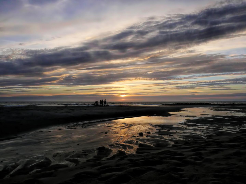 Kurz bevor die Sonne in der Nordsee versinkt...