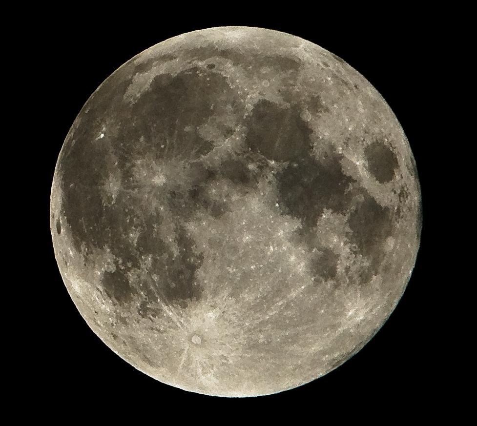Kurz nach der Mondfinsternis