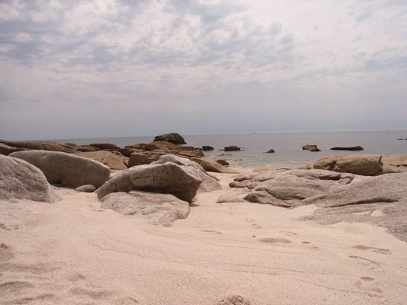 Kurz vor dem Gewitter, Strand von Lesconil