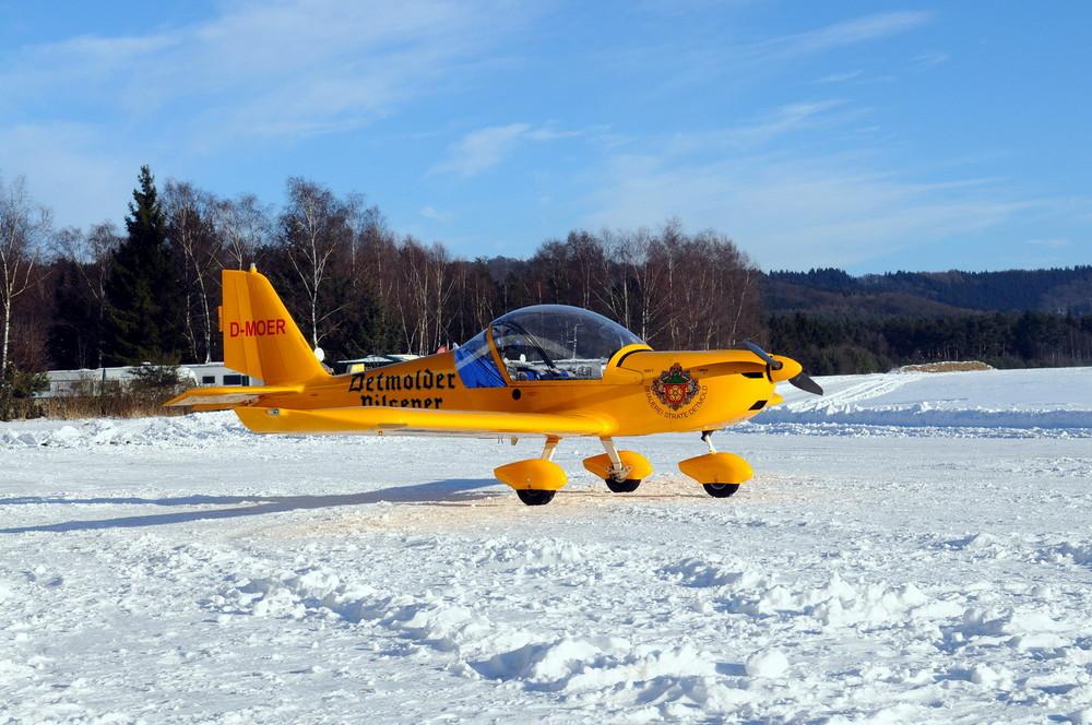 """Kurz vor dem Wintervergnügungsflug mit der """" MOER """""""