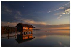 kurz vor der blauen Stunde am See........