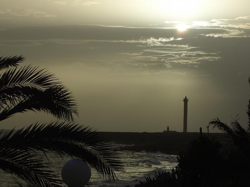 Kurz vor einem Sandsturm auf Lanzarote (Kein Schwarz-Weiß-Foto)