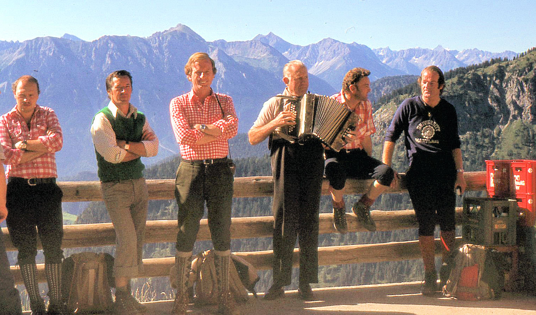 Kurz vor einer Bergtour während einer Kur ..........