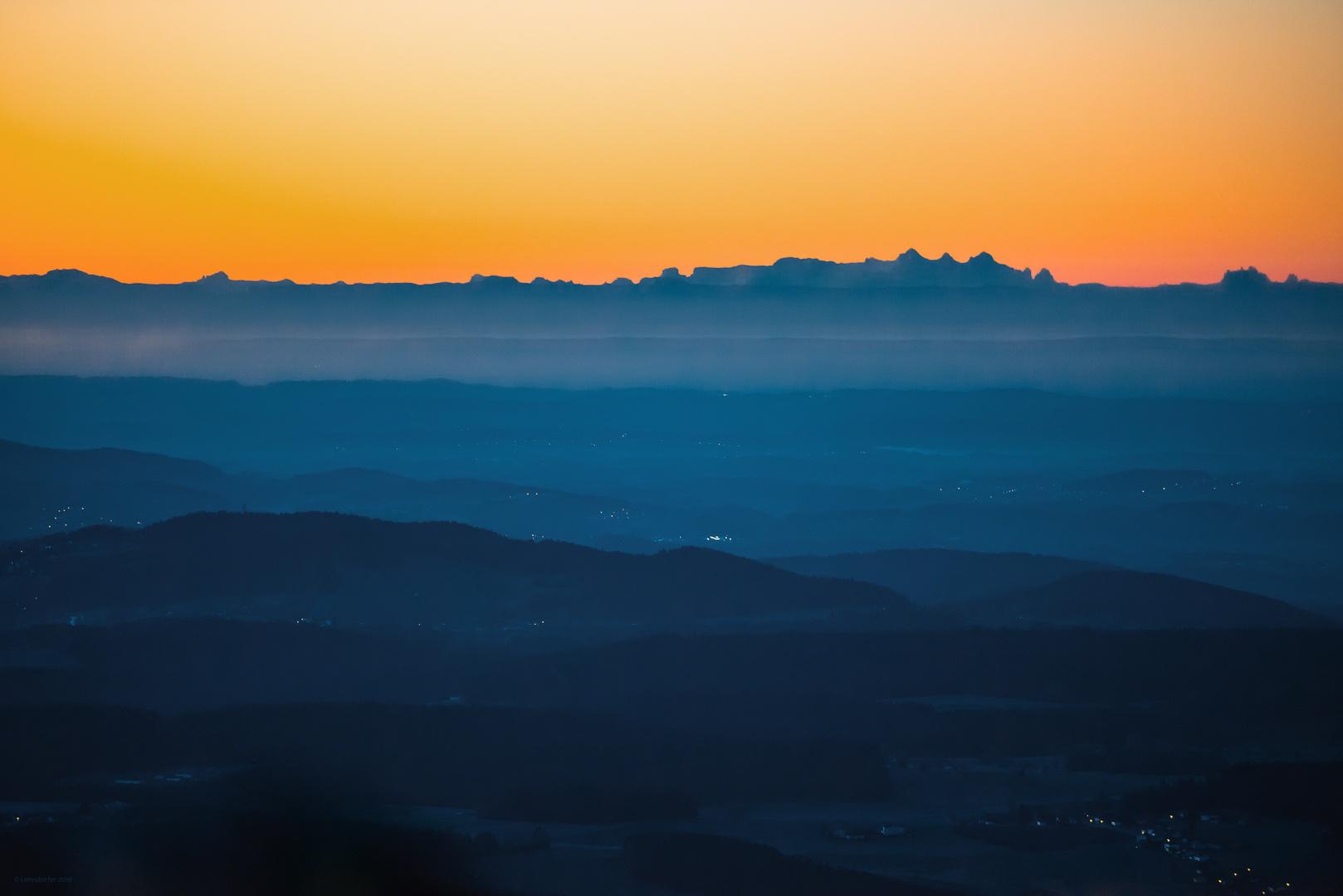 kurz vor Sonnenaufgang...