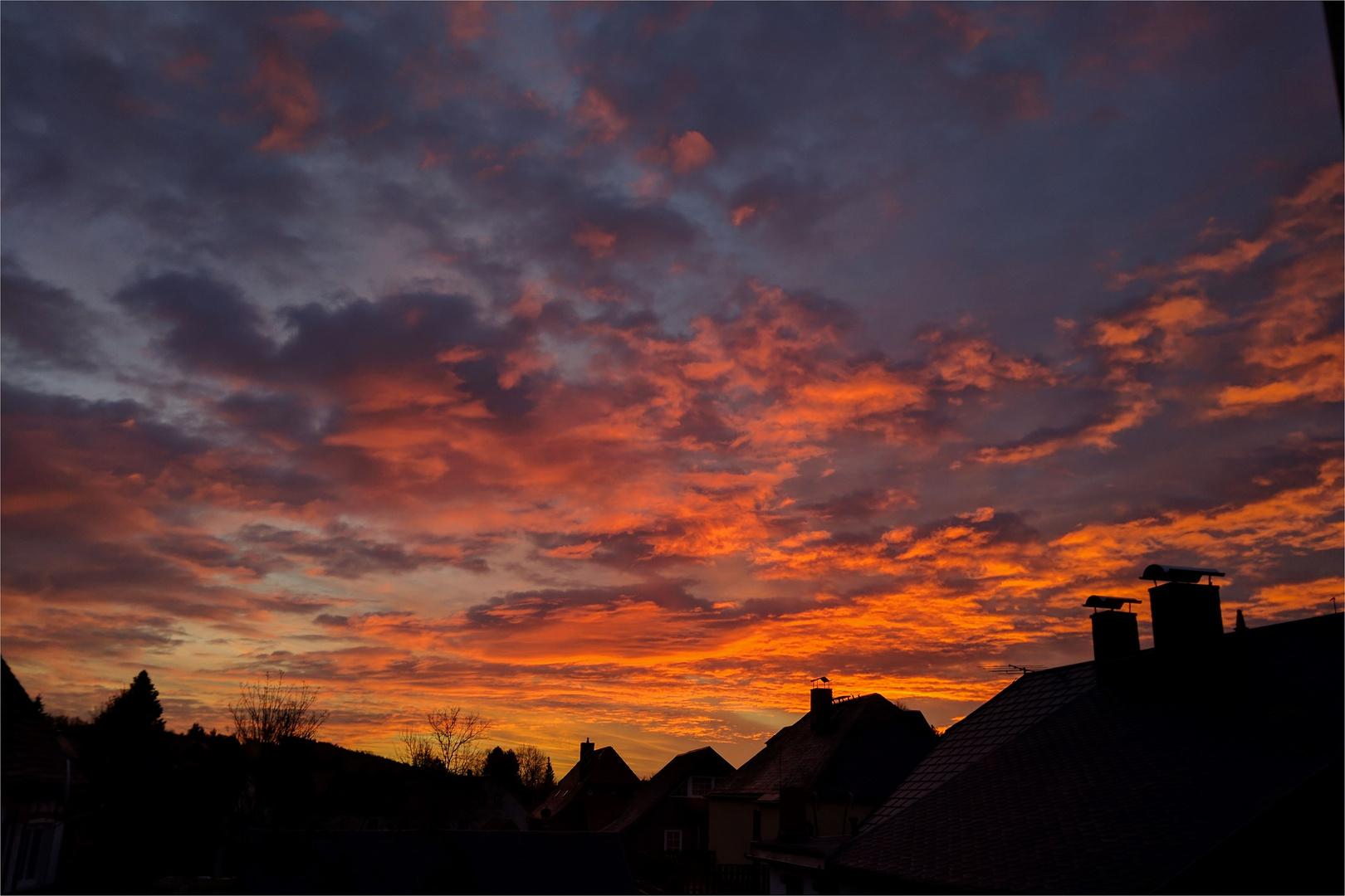 Kurz vor Sonnenaufgang....