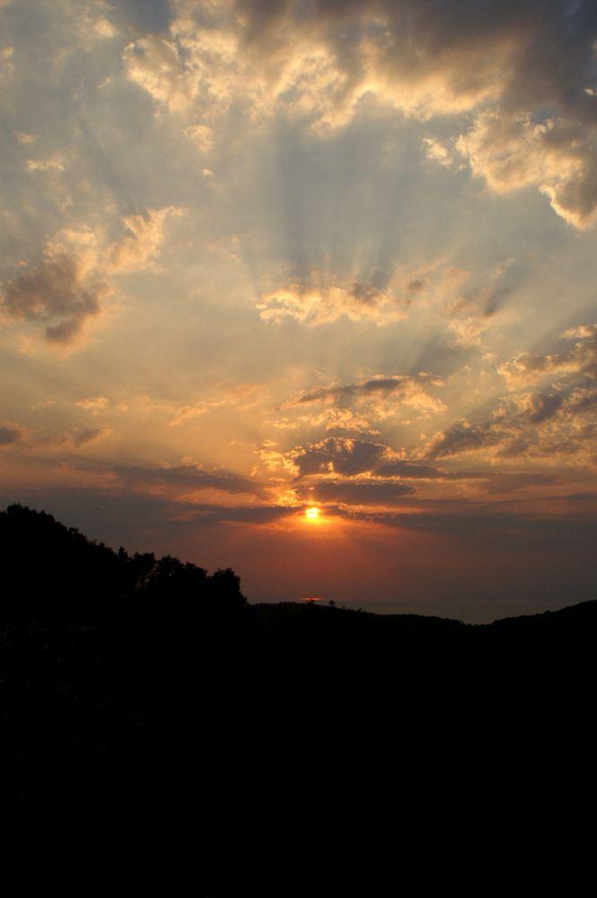 Kurz vor Sonnenuntergang, Koromili Griechenland