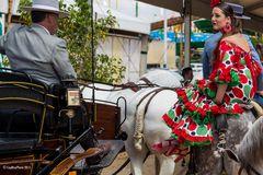 Kurze Pause auf der Feria in Chiclana Juni 2015