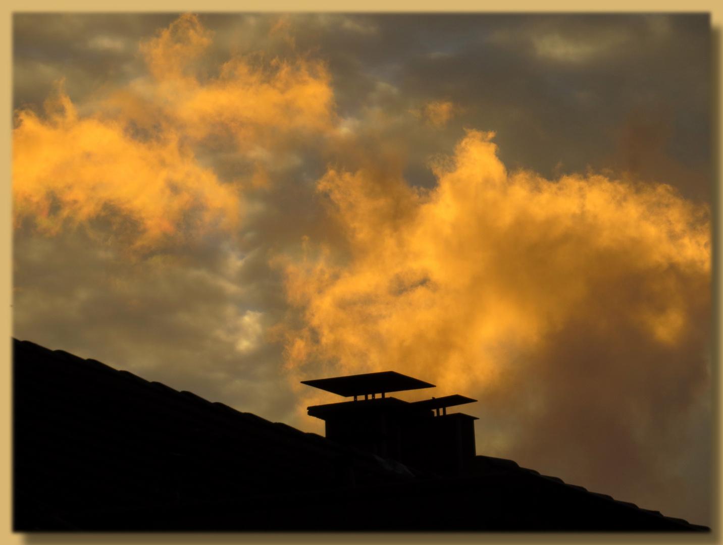 kurzer dunkler Herbststurm - erst 17 Uhr (!),