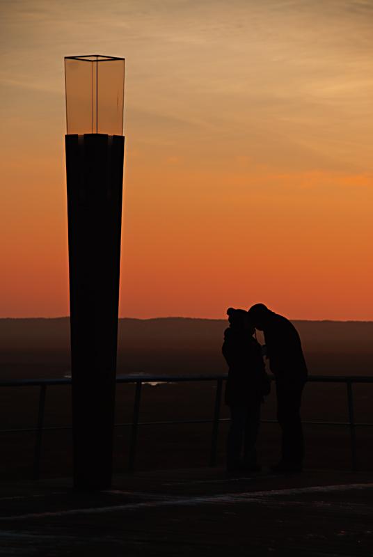 Kuss auf der Seebrücke ...