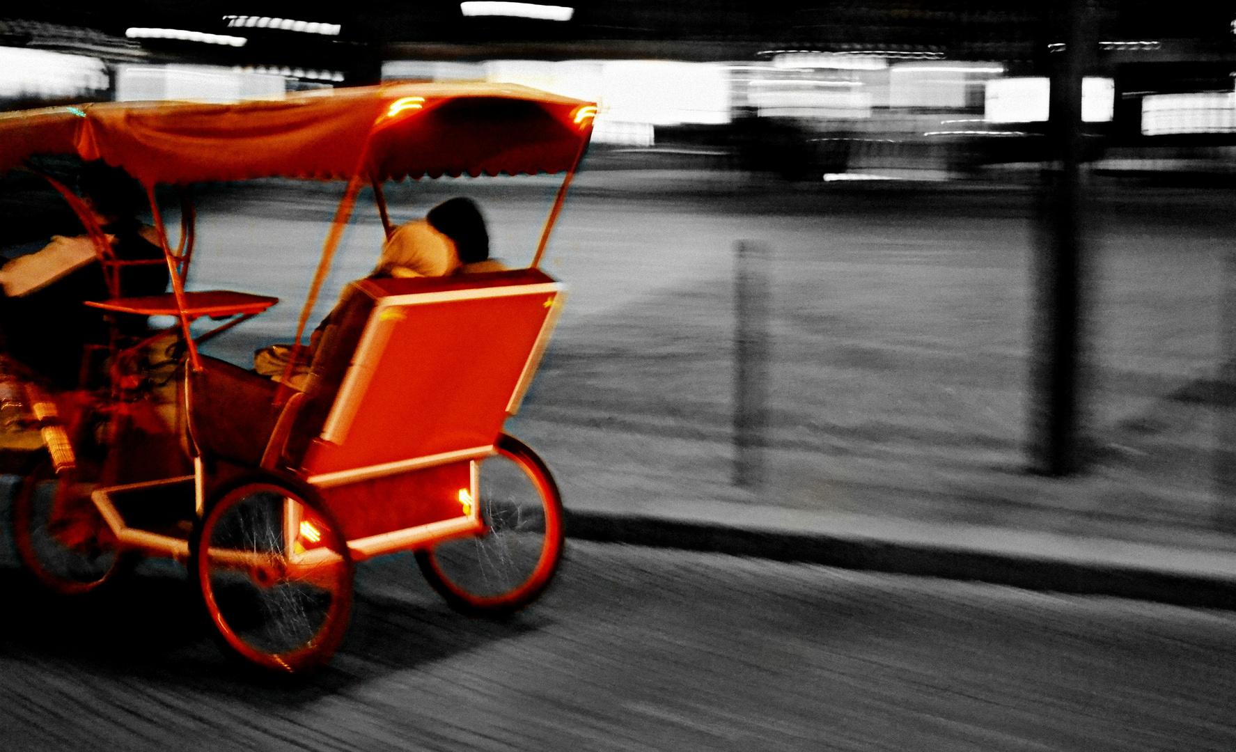 Kutsche in Paris/ Bewegung