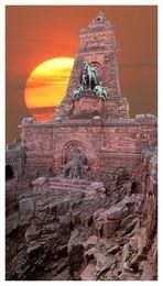 Kyffhäuser-Denkmal mit viel ...