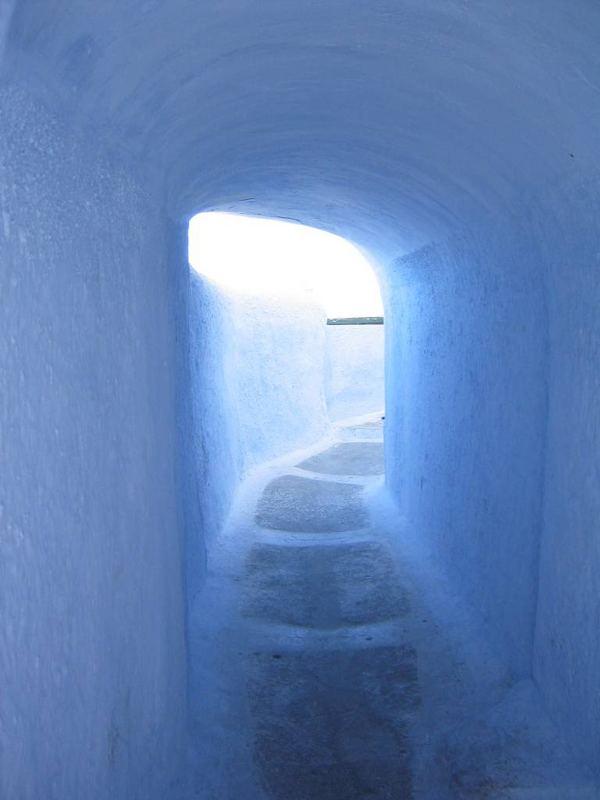 Kykladen, Santorin, Durchgang