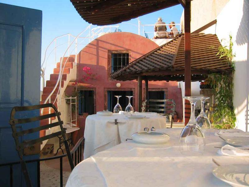 Kykladen, Santorin, Oia, Cafe Restaurant