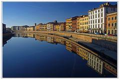l Arno pisano al tramonto....