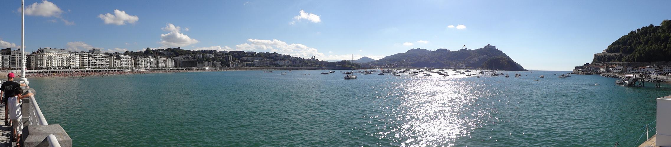 La baia di San Sebastian-Donostia, Spagna, paesi baschi
