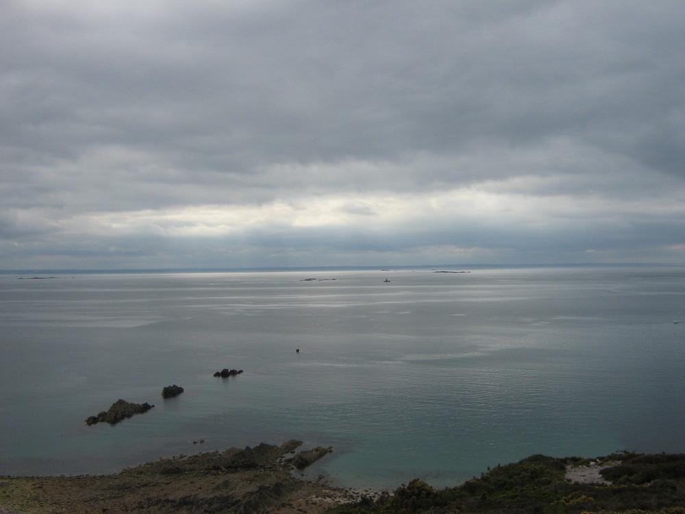 la baie de saint brieuc quelque part dans les nuags