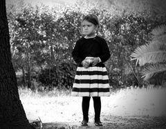 La bambina molto arrabbiata...