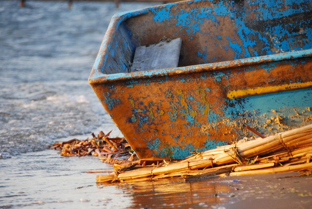La barca en la orilla