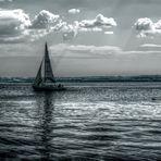 La barchetta nell'acqua