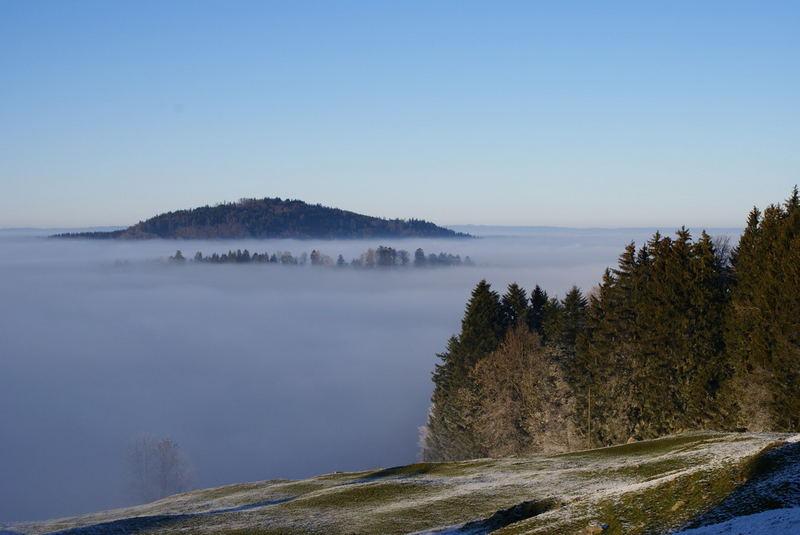 La Berra mit Blick ins Nebelmeer