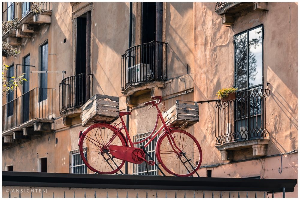 [la bicicletta auf dem blechdach]