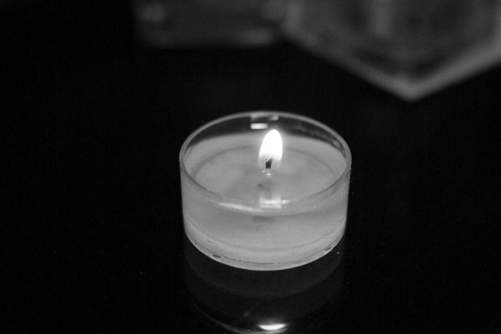 La bougie en noir & blanc