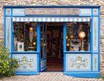 La boutique bleue .