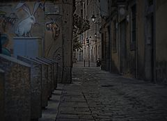 La calle del romance del conejo con la abeja.