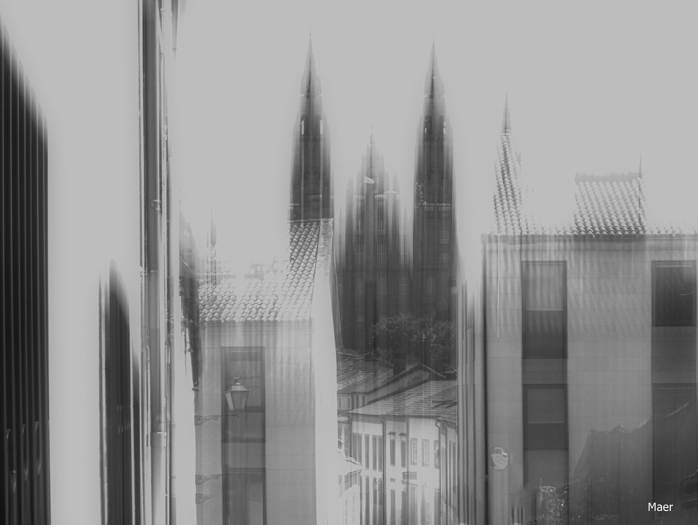 La catedral de Santiago.Pintando con la cámara.
