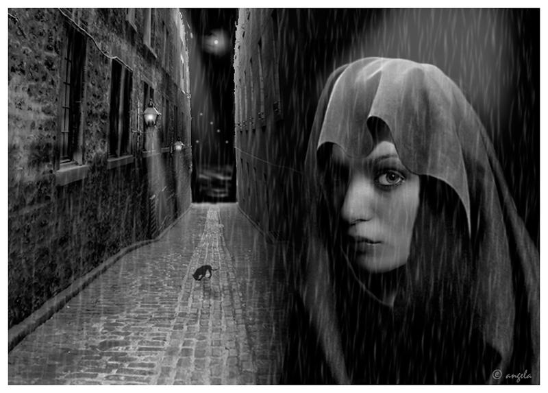 La chica bajo la lluvia