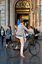 La ciclista (la rambla de Barcelona)