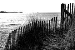 La clôture sur la plage