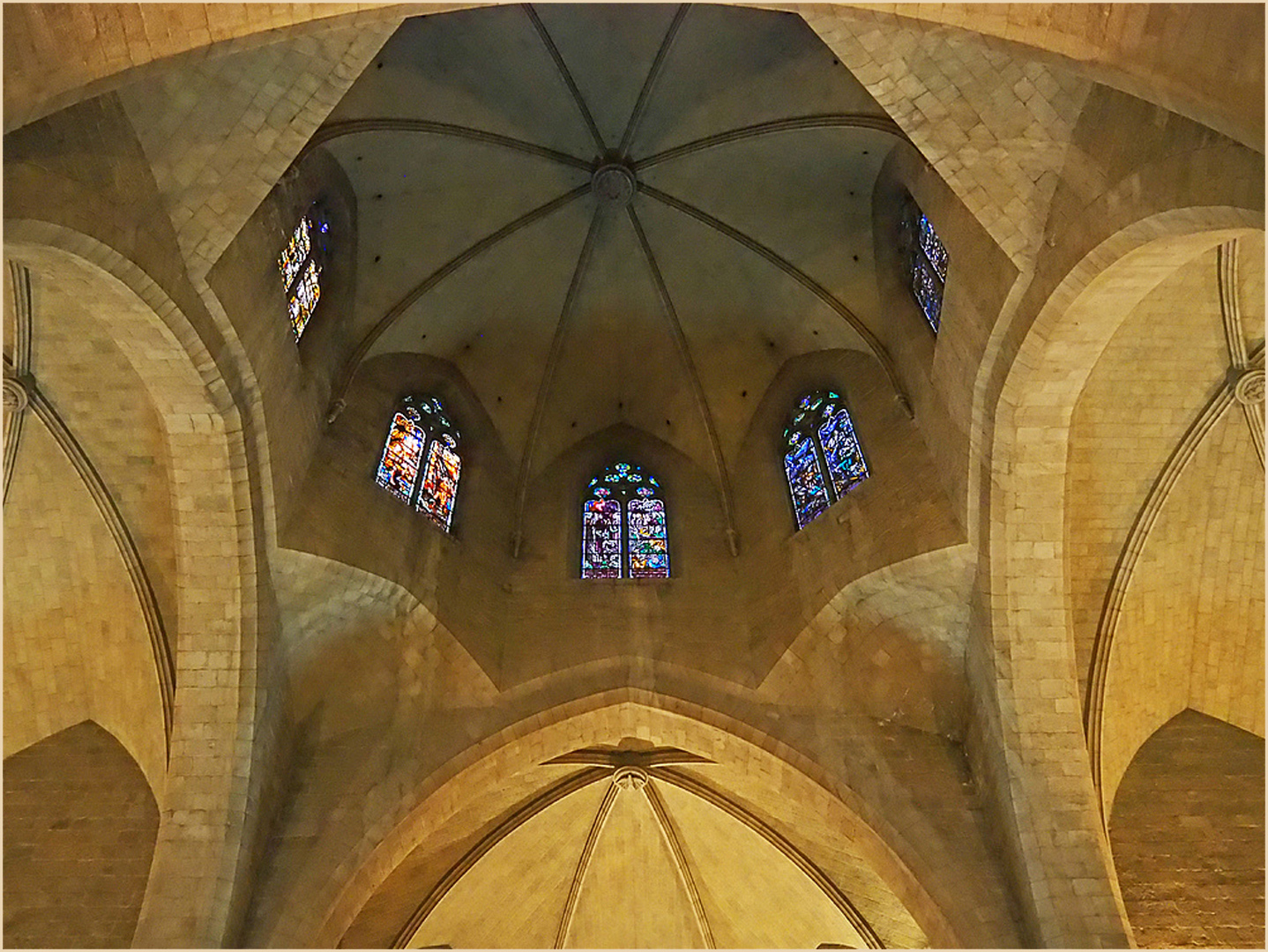 La coupole de l'Eglise Saint-Pierre de Figueras