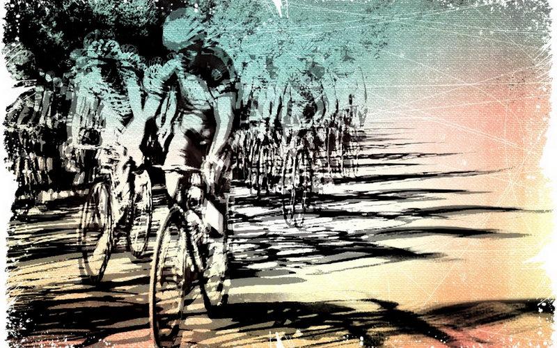 la course cycliste..