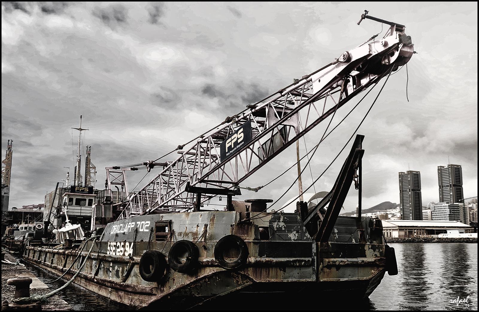 La draga del puerto