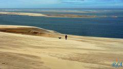 La Duna di Pilat e l'Oceano Atlantico