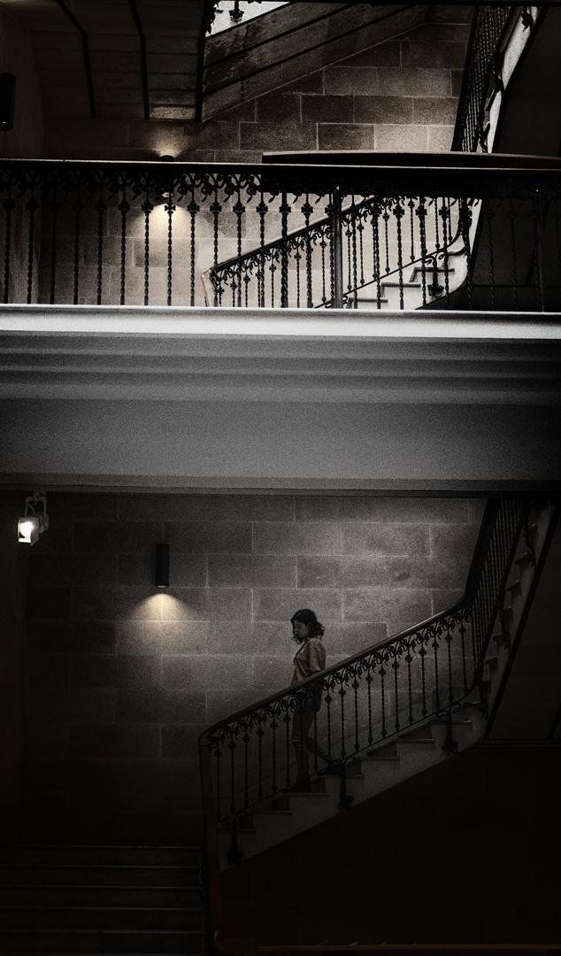 La escalera...