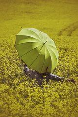 La femme au parapluie danse à travers un champ de colza (82)