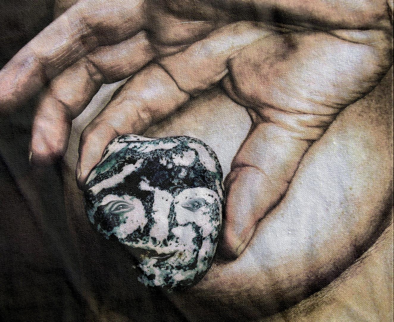 La femme et la pierre.