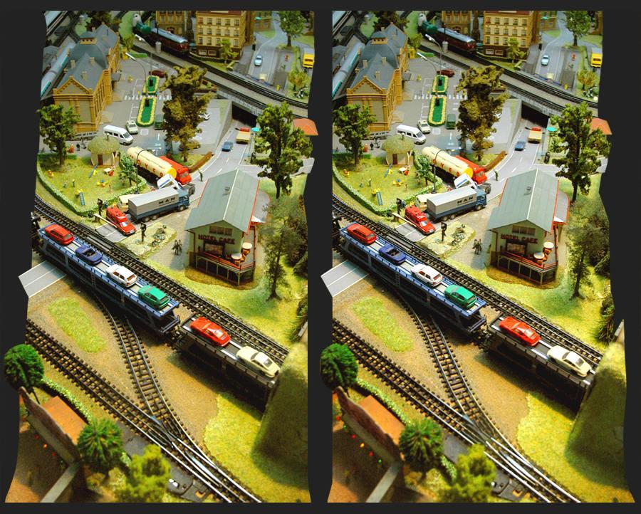 La ferrovia in miniatura 3D