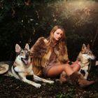 La fille et les loups...