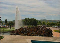 La fontana del parco.