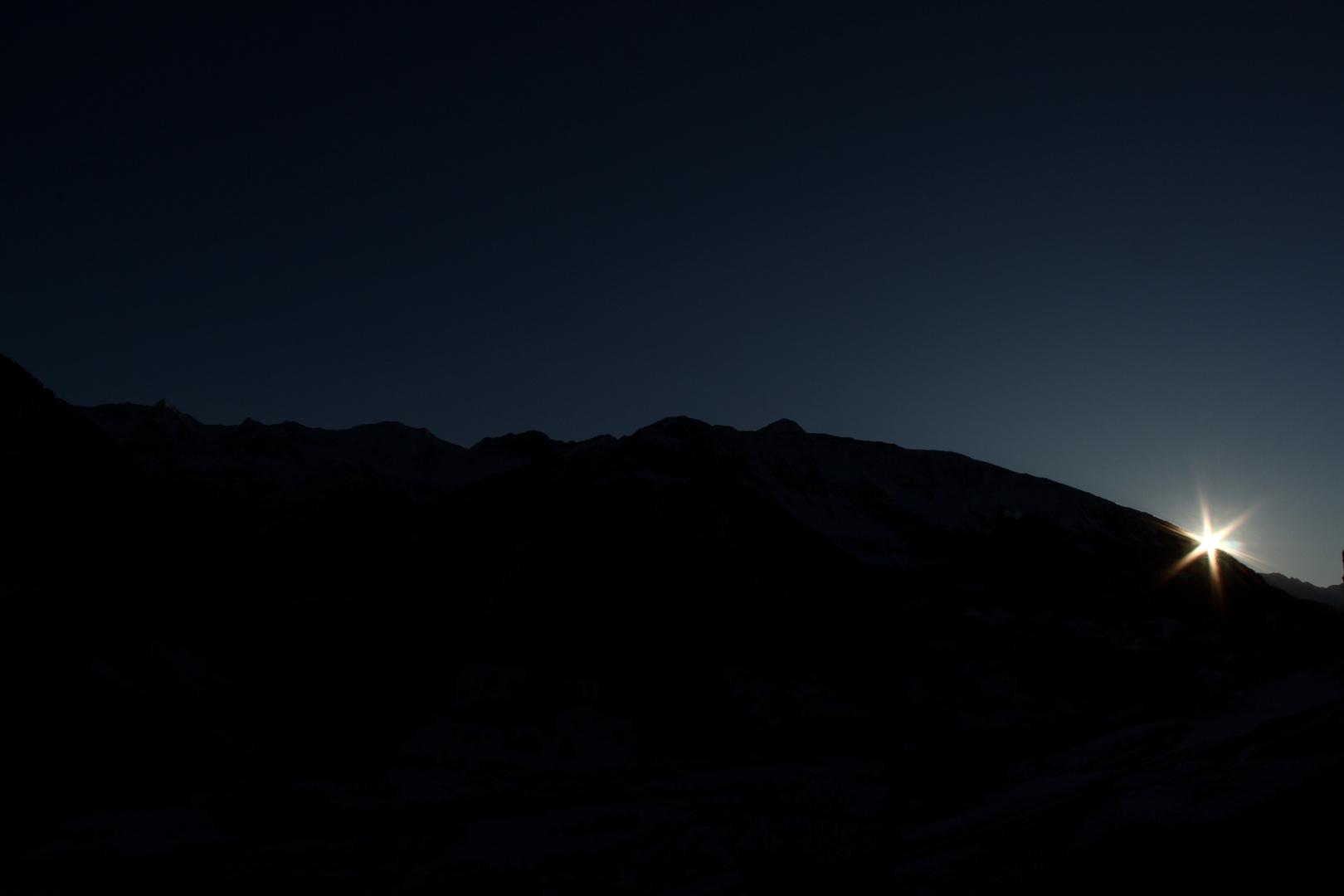 la Garvera und der Sonnenuntergang (Surselva/Schweiz)