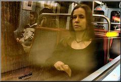 La Gioconda al Metro di Lisboa.