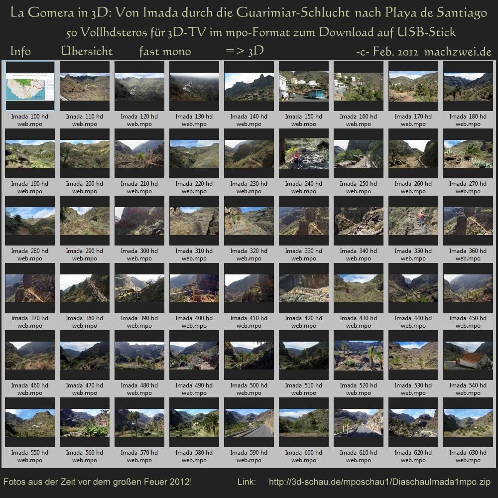 La Gomera in 3D: Von Imada durch die Guariamar-Schlucht / 50 Stereos für 3D-TV