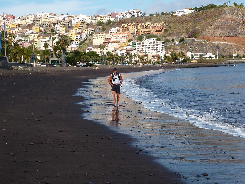 La Gomera - San Sebastian, Spaziergang am Strand